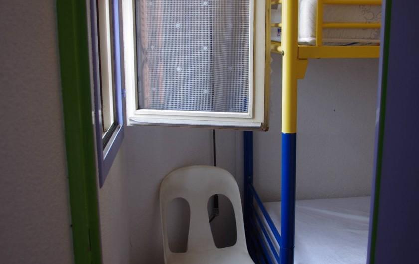 Location de vacances - Appartement à Sète - l'accès à la seconde chambre