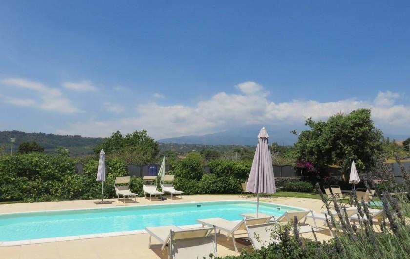 Location de vacances - Appartement à Acireale - piscine avec la vue de l'ETNA