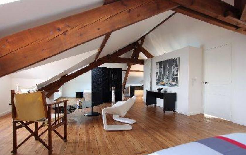 Location de vacances - Villa à Pornichet - 2 ème étage, loft avec salle d'eau et wc