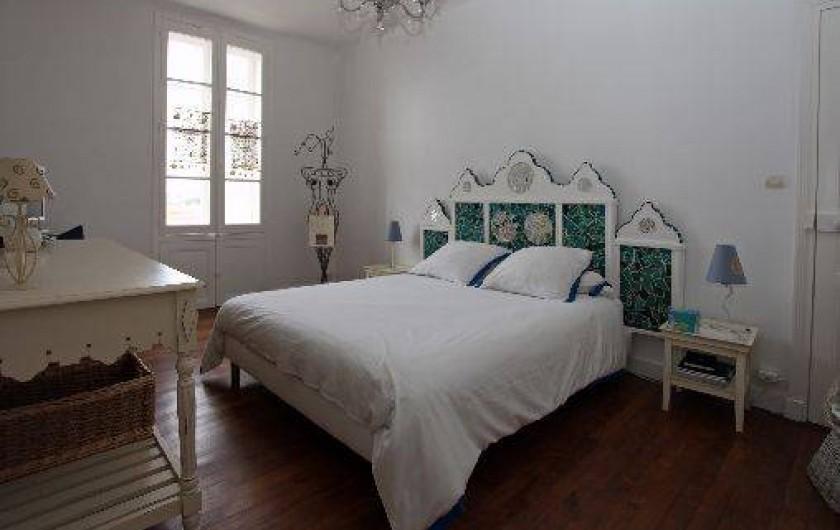 Location de vacances - Villa à Pornichet - 1 er étage, Chambre avec lit 180, TV et lecteur Dvd, face mer avec SDB