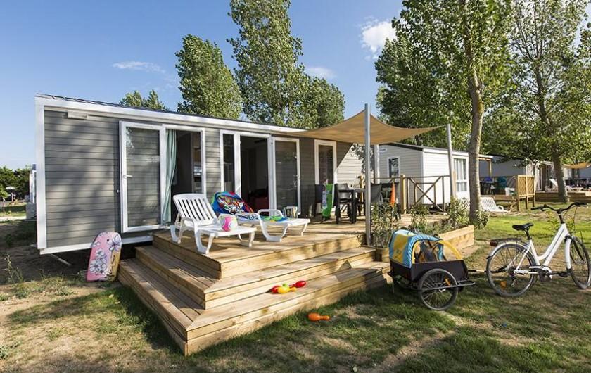 Location de vacances - Bungalow - Mobilhome à Vendres - Terrasse du Mobile Home Alicante