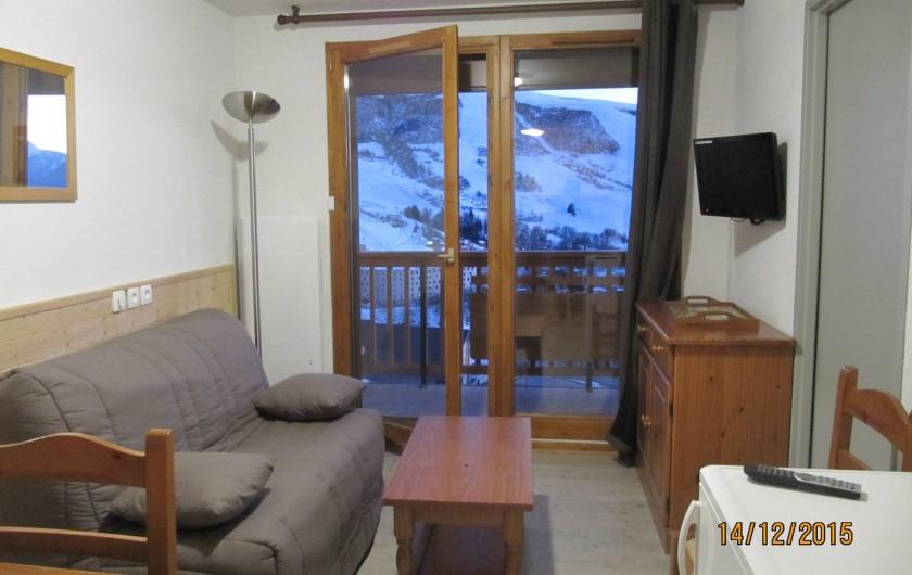 Location de vacances - Appartement à Saint-François-Longchamp - SALON AVEC TELEVISEUR,WIFI