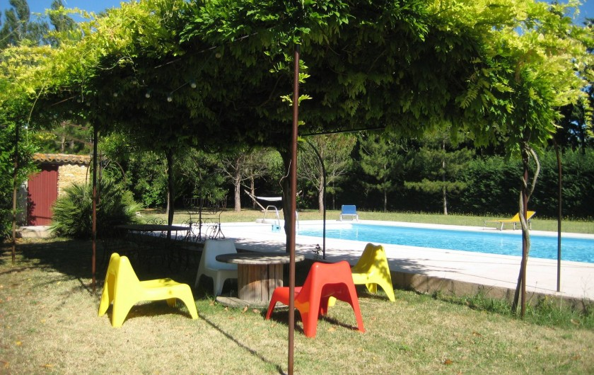 Location de vacances - Appartement à Courthézon - piscine