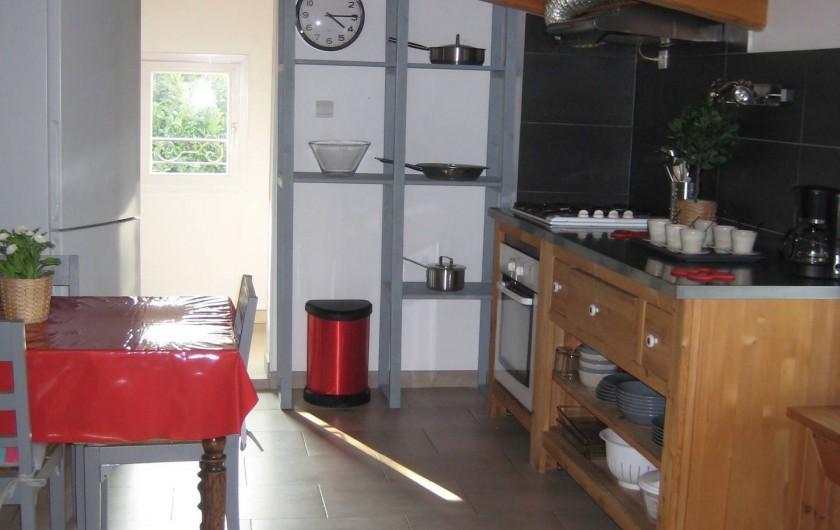 Location de vacances - Appartement à Courthézon - cuisine , coin repas