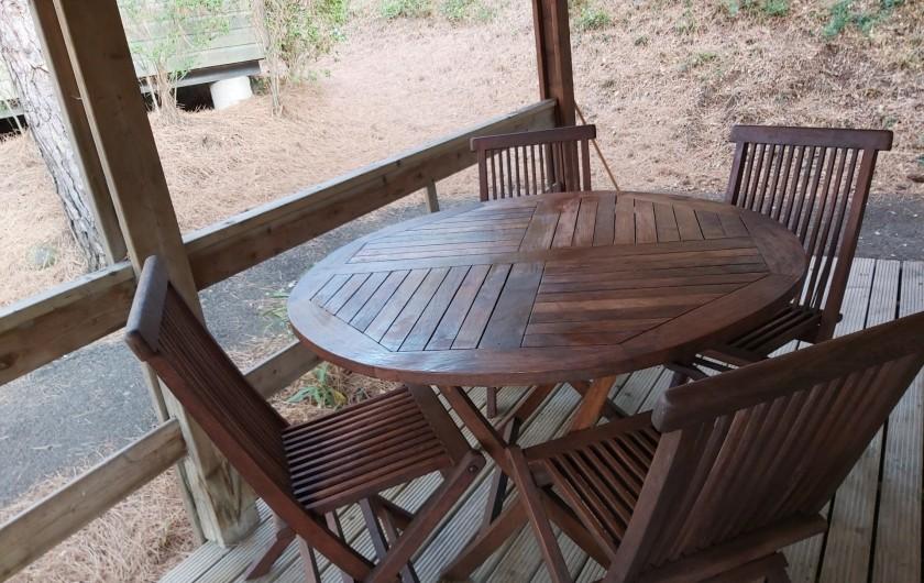 Location de vacances - Chalet à Agde - table terrasse