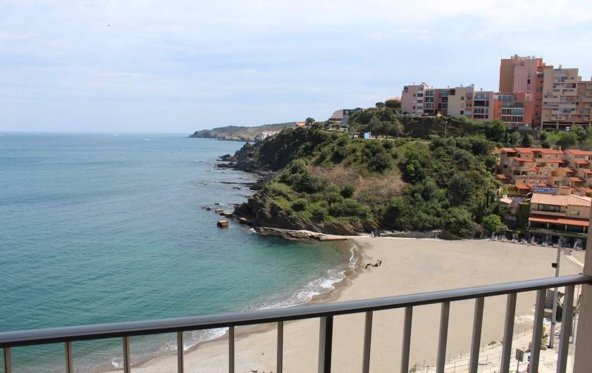 Location de vacances - Appartement à Banyuls-sur-Mer - Vue depuis les trois balcons