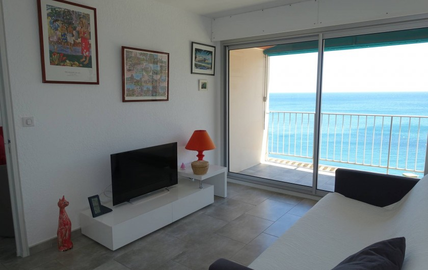 Location de vacances - Appartement à Banyuls-sur-Mer - Chambre 1 Transat extérieur 11 m2 Canapé lit 160