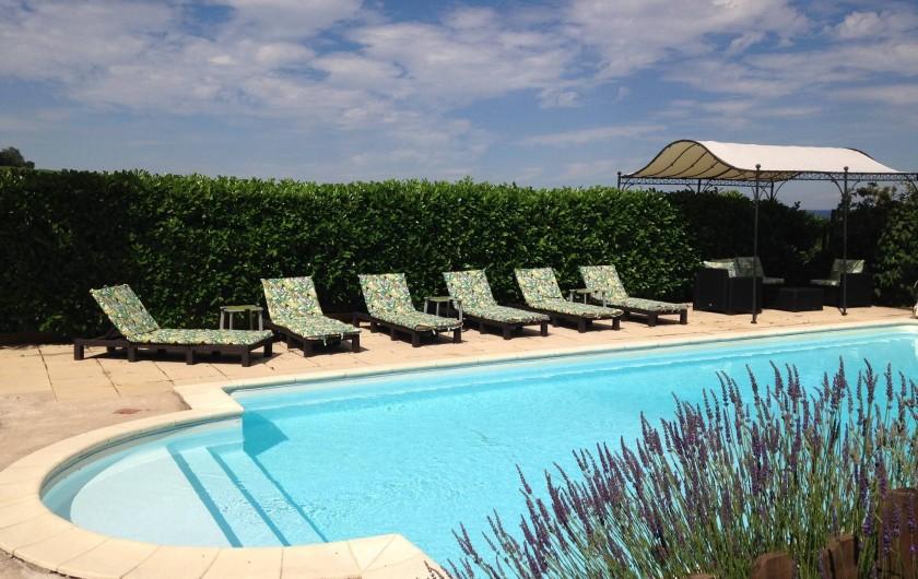 Location de vacances - Maison - Villa à Saint-Étienne-des-Oullières - Exclusive use of heated pool