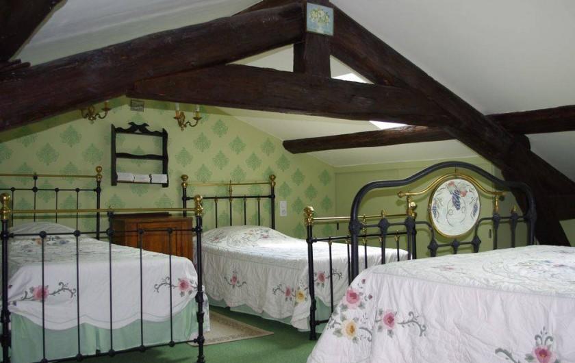Location de vacances - Maison - Villa à Saint-Étienne-des-Oullières - Chambre verte -air-conditionné reversible
