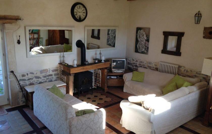 Location de vacances - Maison - Villa à Saint-Étienne-des-Oullières - Salle de séjours
