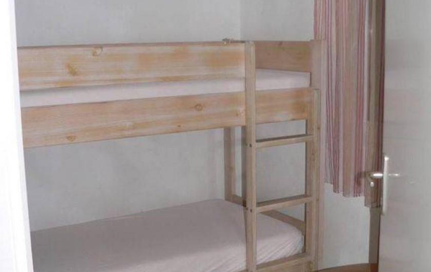 Location de vacances - Chalet à Ondres - 3eme chambre : lits superposés
