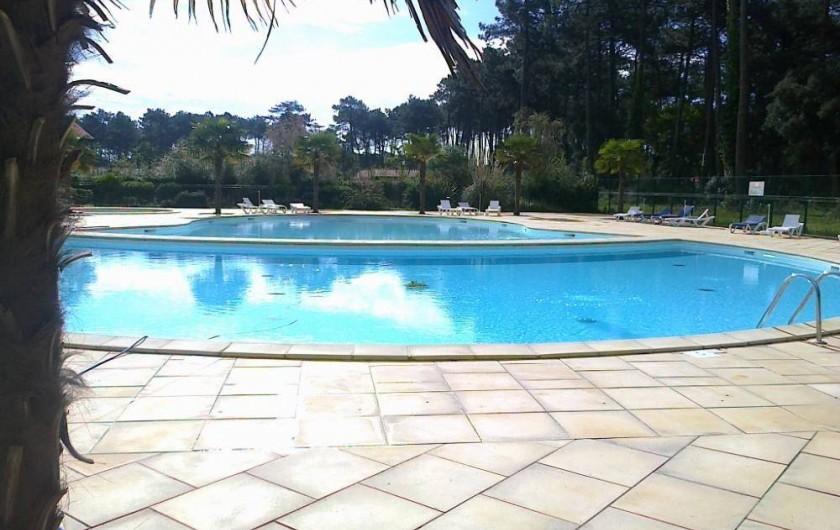 Location de vacances - Chalet à Ondres - Piscine 3 bassins