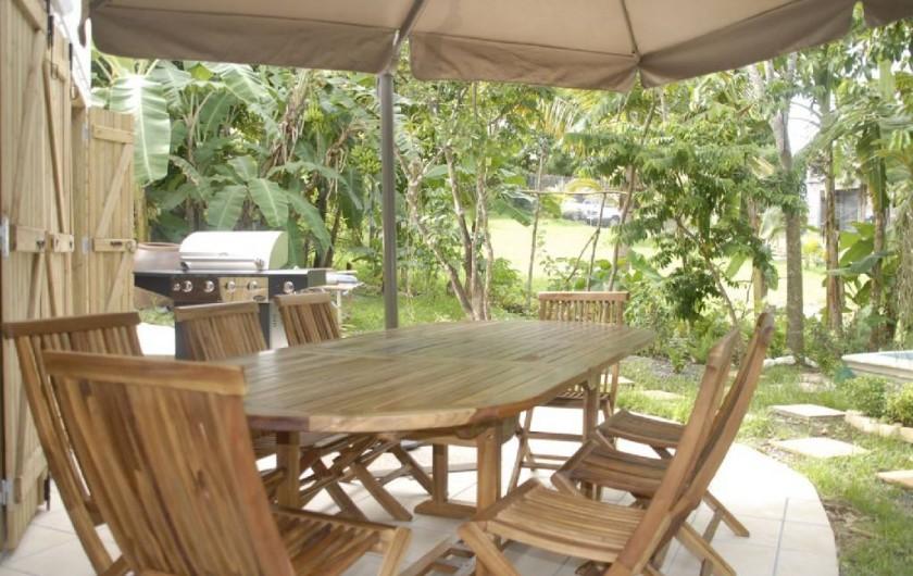 Location de vacances - Studio à Sainte-Anne - Espace barbecue