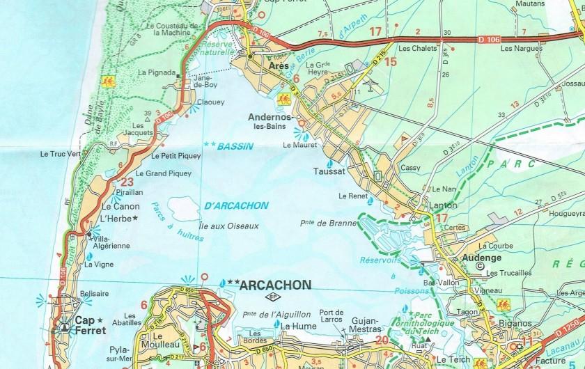 Location de vacances - Villa à Arès - Le Bassin