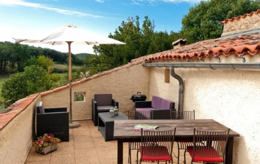 Location de vacances - Gîte à Saint-Félix-de-Pallières - Terrasse 1e étage