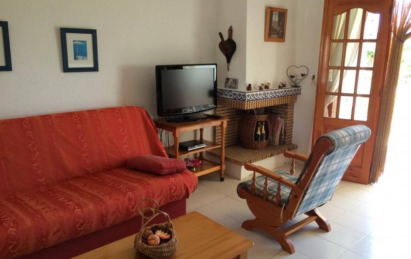 Location de vacances - Appartement à Alcossebre - SALON SEJOUR AVEC TELE (SATTELITE)