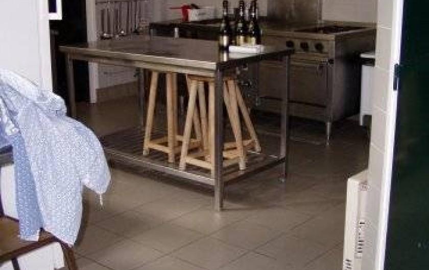 Location de vacances - Centre de vacances à Agon-Coutainville - Cuisine professionnelle + de cents couverts, sur un service.