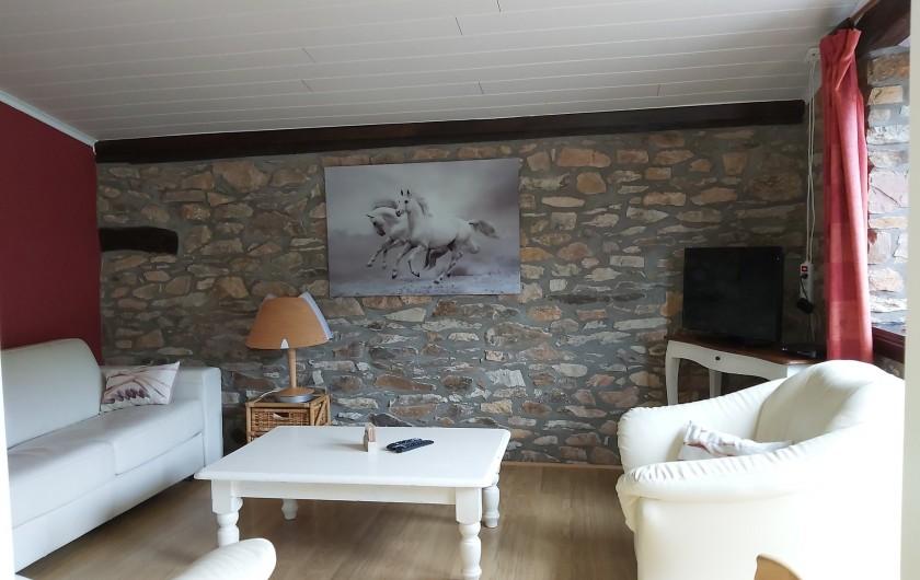 """Location de vacances - Gîte à Haut-Fays - Gîte """"La Chevauchée""""  salon équipé d'un divan-lit"""