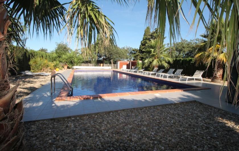 Location de vacances - Gîte à Thuir - Espace piscine fermé