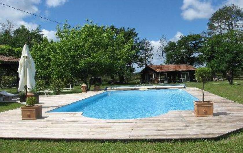 G te ancienne grange dans un airial typique landais avec piscine l e dans les landes en - Gite dans les landes avec piscine ...
