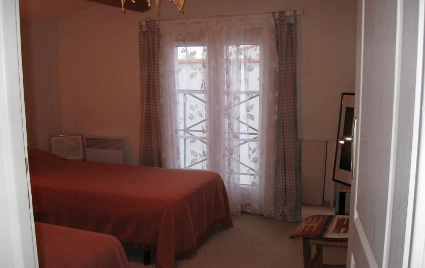 Location de vacances - Villa à La Couarde-sur-Mer - Chambre 3: 2 lits de 90 x 200