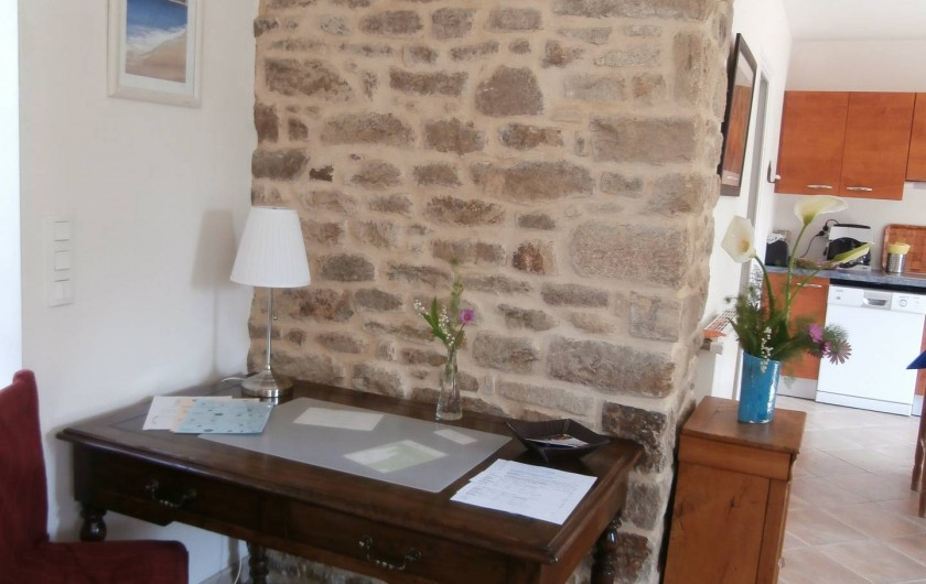 Location de vacances - Gîte à Quimperlé - Coin bureau dans le séjour