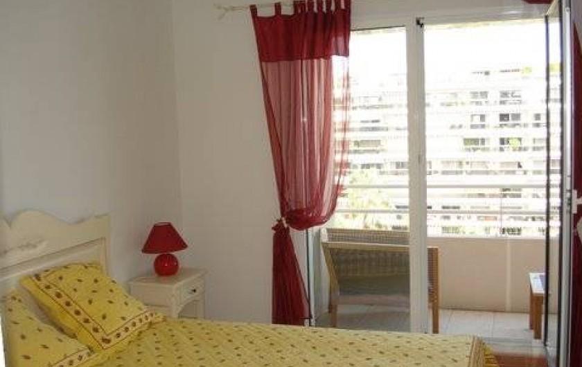Location de vacances - Appartement à Juan les Pins - Chambre principale
