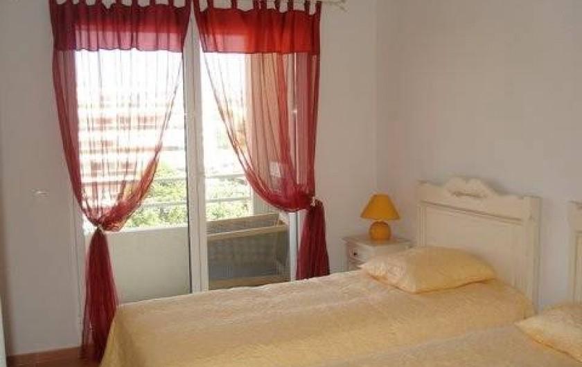 Location de vacances - Appartement à Juan les Pins - Chambre à deux lits