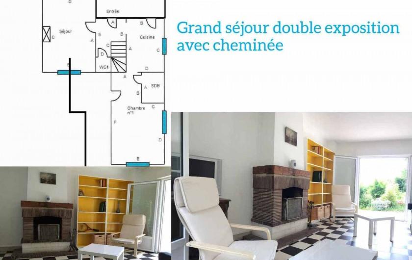 Location de vacances - Maison - Villa à Dieppe - Plan RDC, salon