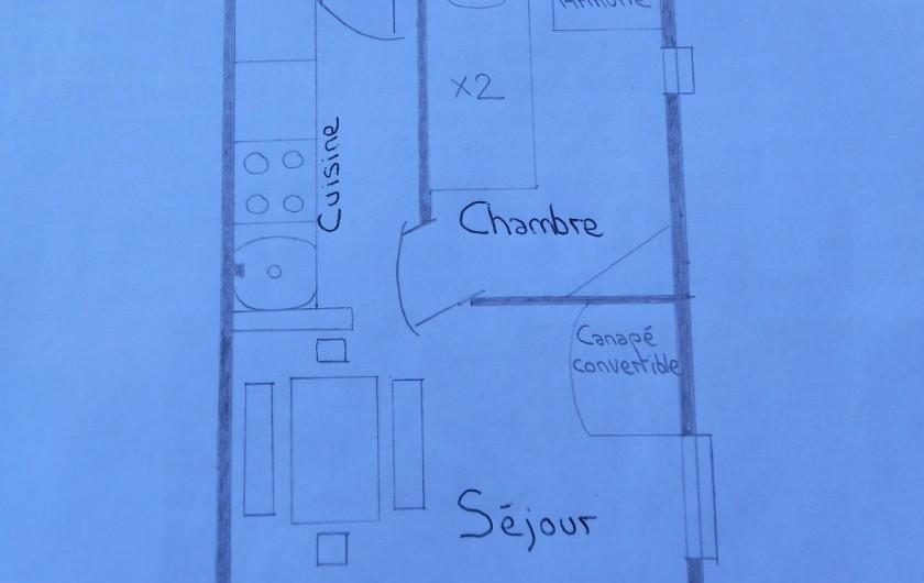 Location de vacances - Appartement à Bonneval-sur-Arc - Plan de l'appartement