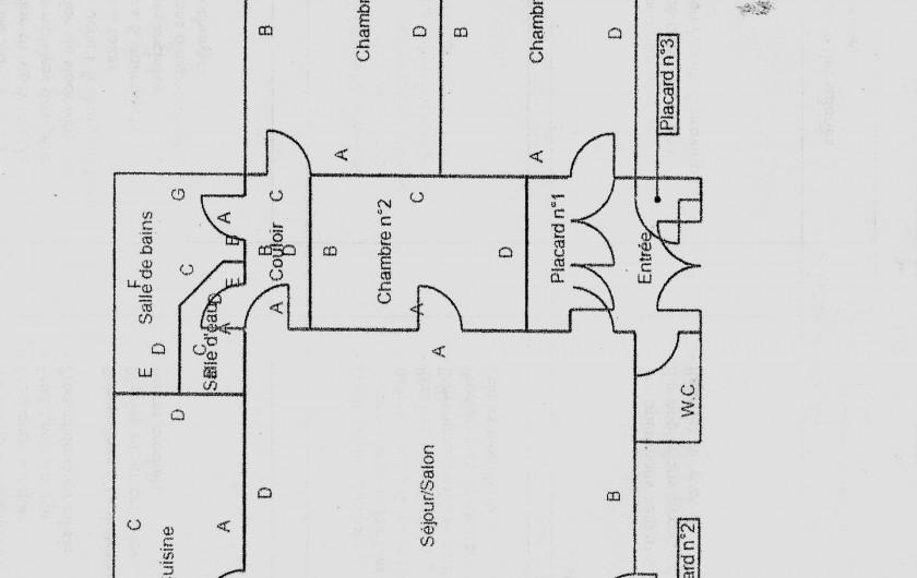 Location de vacances - Appartement à Dinard - plan de l'appartement