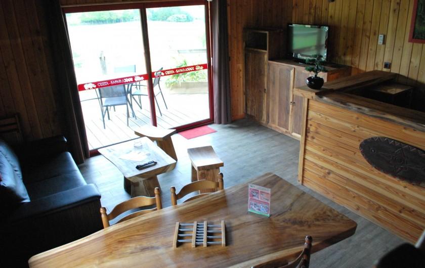 Location de vacances - Insolite à Hermival-les-Vaux - Pièce de vie Lodges et Lodges Premium