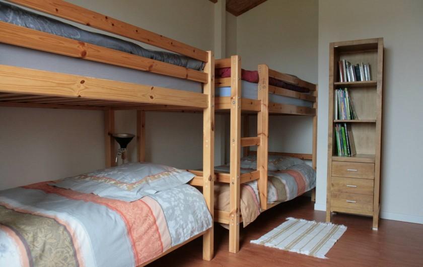 Location de vacances - Gîte à La Chapelle-aux-Filtzméens - Chambre des enfants 12 m2 hauteur sous plafond de 2 m 70