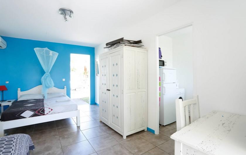 Location de vacances - Bungalow - Mobilhome à Saint-François - Salon/chambre