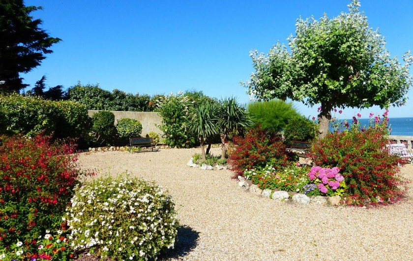 Location de vacances - Appartement à Villerville - jardin de la residence