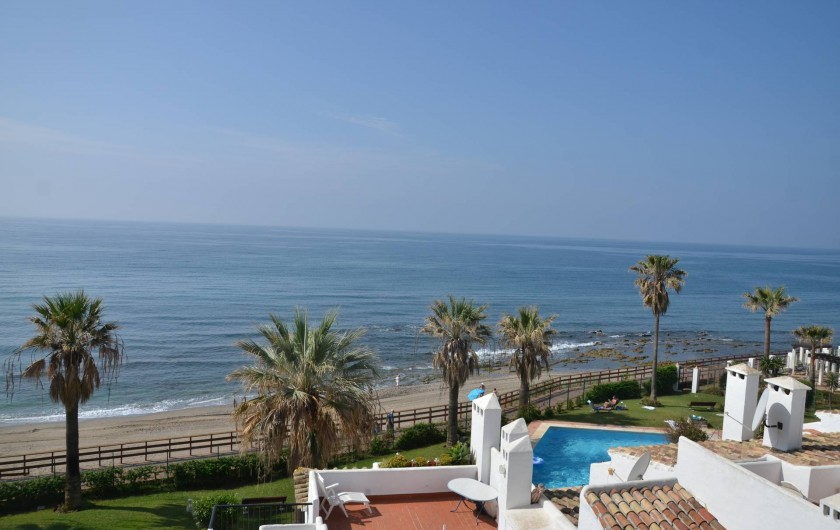 Location de vacances - Appartement à Calahonda - Vue depuis la terrasse du haut