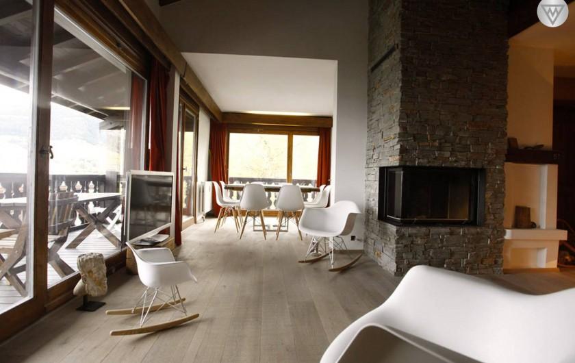 Location de vacances - Appartement à Megève - Salon/salle à manger