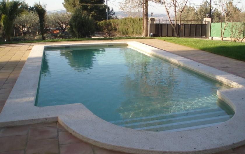 Location de vacances - Villa à Xàtiva - piscina de la villa