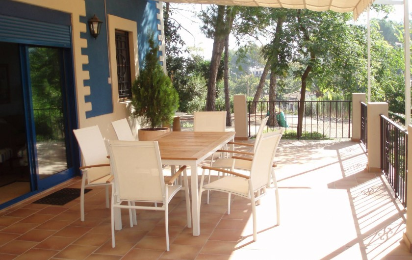 Location de vacances - Villa à Xàtiva - terraza