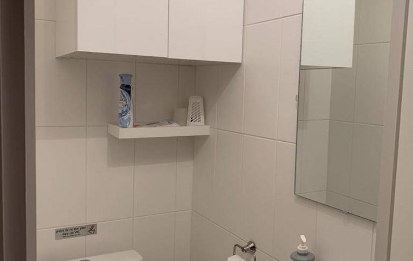 Location de vacances - Studio à Port-Deauville - WC indépendant avec lave-mains