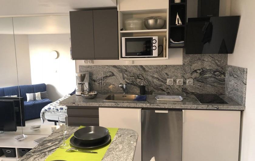 Location de vacances - Studio à Port-Deauville - Espace cuisine en granit