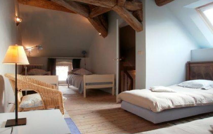 Location de vacances - Chambre d'hôtes à Joux-la-Ville - la chambre du colombier, 4 lits à l'étage