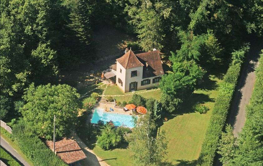 Location de vacances - Villa à Vezac - Vue aérienne Villa  Vezac
