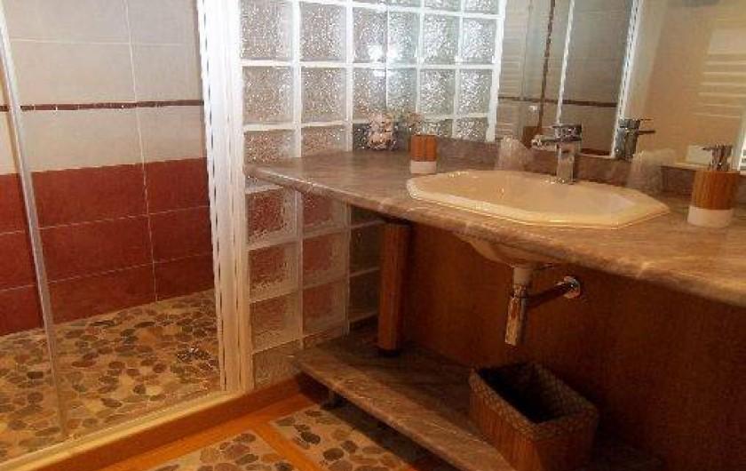 Location de vacances - Chambre d'hôtes à Rapale - Salle de bains de la chambre clémentine