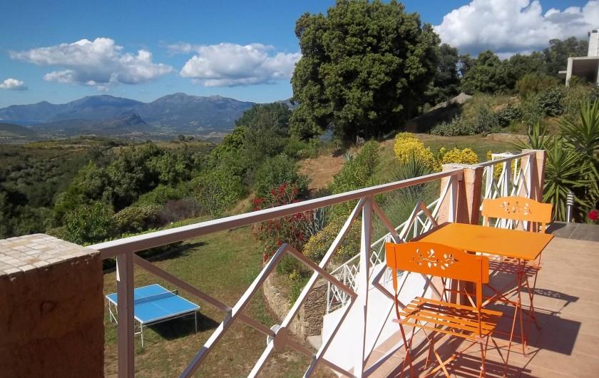 Location de vacances - Chambre d'hôtes à Rapale - Terrasse de la chambre clémentine