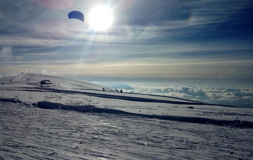 Location de vacances - Maison - Villa à Annecy - Snowkite au  Semnoz  station de ski familiale à 15 minutes des gîtes