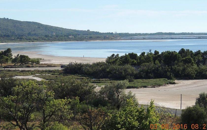Location de vacances - Maison - Villa à La Palme - L'étang vu du village