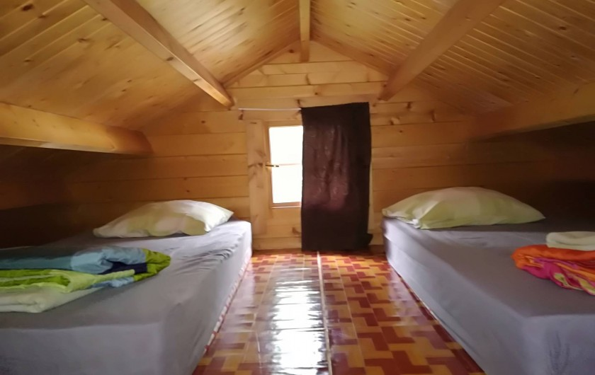 Location de vacances - Chalet à La Saline-Les-Bains - 2 lit simple pour 2 personnes dans la mezzanine
