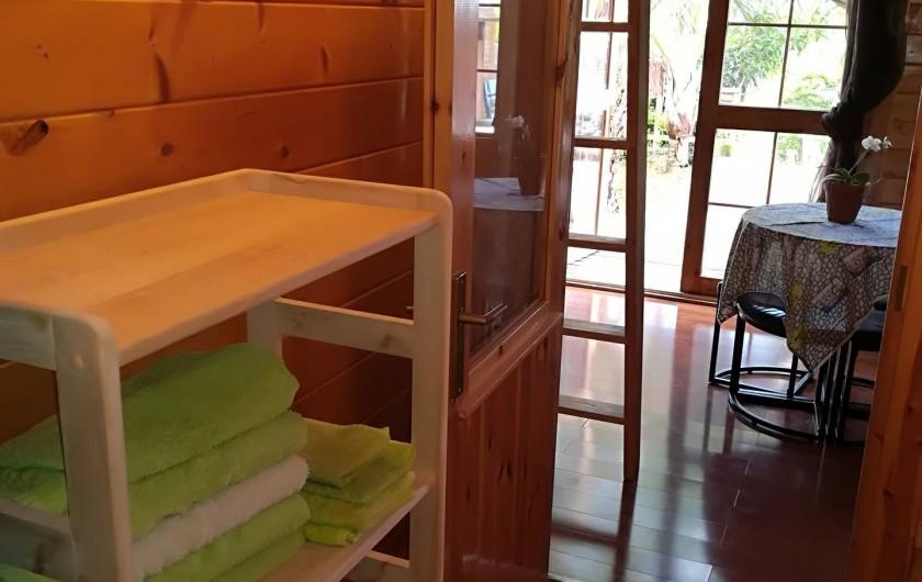 Location de vacances - Chalet à La Saline-Les-Bains - Les linge de maison sont fournis dans le chalet .