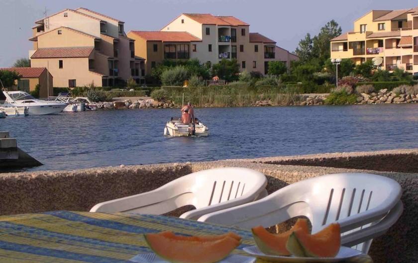 Location de vacances - Maison - Villa à Le Barcarès - Vue de la terrasse